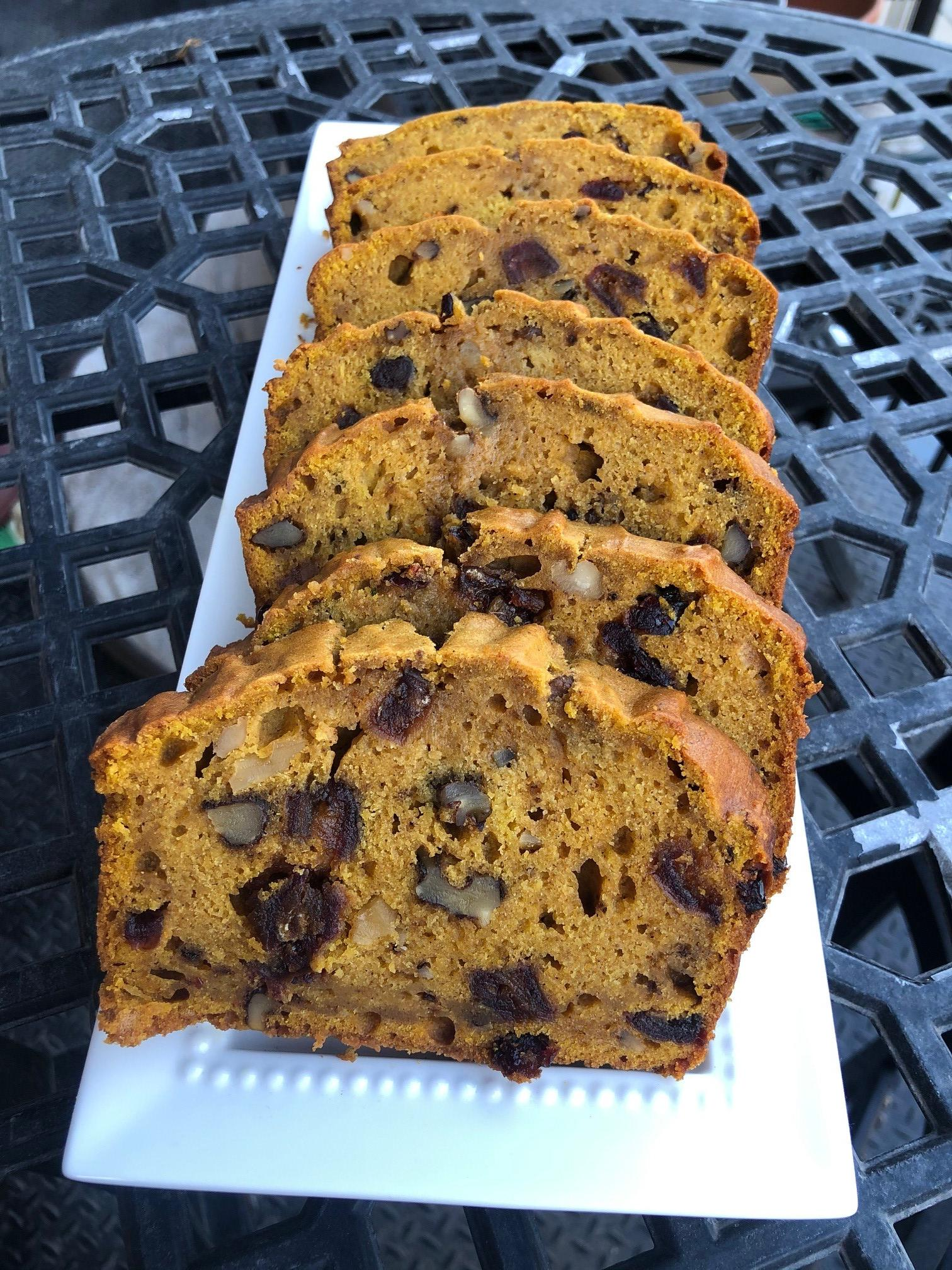 Butternut Squash Bread with Dates, Cranberries, and Walnuts